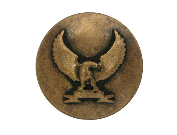 Golden Eagle 3/4 inch Metal Button Antique Brass Color