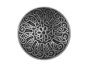 Cutwork 3/4 inch Metal Button Antique Silver Color