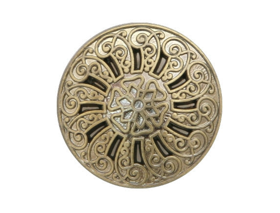 Cutwork 9/16 inch Metal Button Silver Gold Color