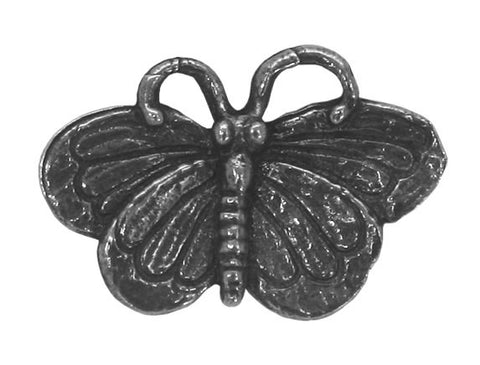 Green Girl Large Butterfly 15/16 inch Pewter Button Antique Silver Color