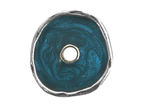 Danforth Turquoise Essence 13/16 inch Pewter Button Antique Silver Color
