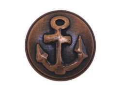 Anchor<br>  5/8 inch Metal Button<br>  Antique Brass Color