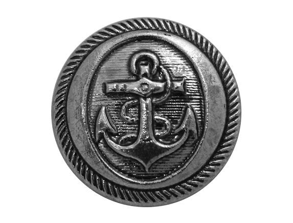 Dill Anchor 7/8 inch Plastic Button Silver Color