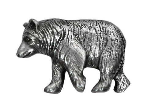 Danforth Black Bear 1 inch Pewter Button Antique Silver Color