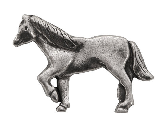 Danforth Horse 1.25 inch Pewter Button Antique Silver Color