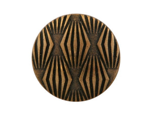 Moguls 5/8 inch Metal Button Antique Brass Color