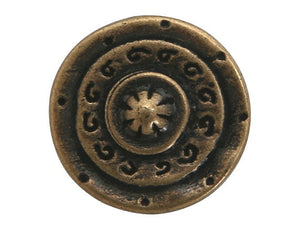 Dill Gladiator 1 inch Metal Button Antique Brass Color
