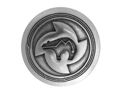 Blackhawk Sun Bear 1 inch Concho Button Silver Color