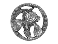 Susan Clarke Bract </br>3/4 inch Metal Button</br>Antique Silver Color