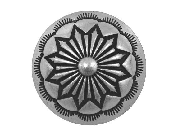 Blackhawk Fringed Flower 7/8 inch Concho Button Silver Color