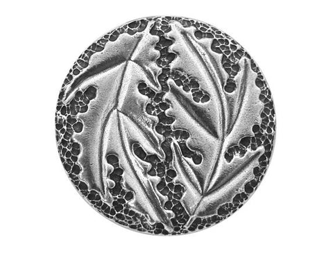 Danforth Large Oak Leaf 1.5 inch Pewter Button Antique Silver Color