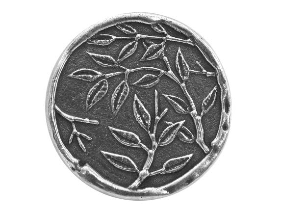 Danforth Bamboo 1 inch Pewter Button Antique Silver Color