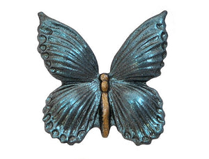 Susan Clarke Butterfly (Wings Down) 7/8 inch Metal Button Steel Blue Color