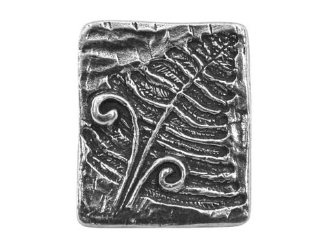 Danforth Fern 1 inch Pewter Button Antique Silver Color