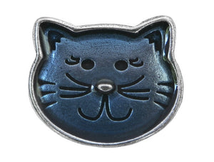 Danforth Kitty 1 inch Pewter Button Antique Silver Color