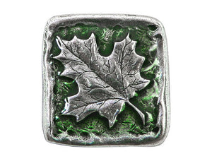 Danforth Summer Maple Leaf 13/16 inch Pewter Button Antique Silver Color