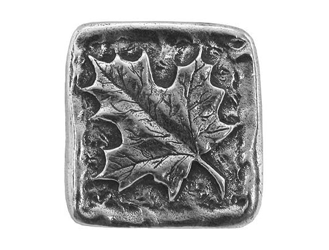 Danforth Maple Leaf 13/16 inch Pewter Button Antique Silver Color