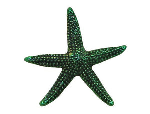 Susan Clarke Starfish Green 3/4 inch Metal Button Green Color
