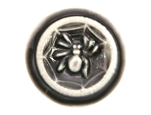 Susan Clarke Spider 13/16 inch Art Stone Button Chocolate Color