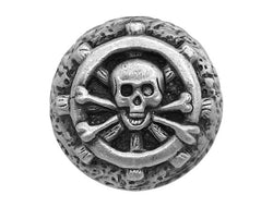 Modelfik Jolly Roger 15/16 inch Pewter Button Antique Silver Color