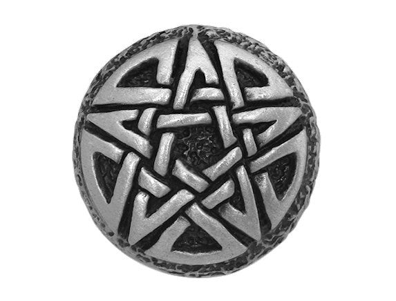 Modelfik Celtic Pentagram 15/16 inch Pewter Button Antique Silver Color