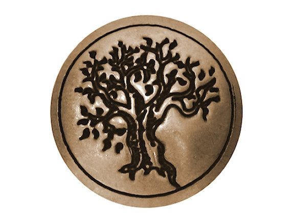 Blackhawk Tree 1 inch Concho Button Brass Color