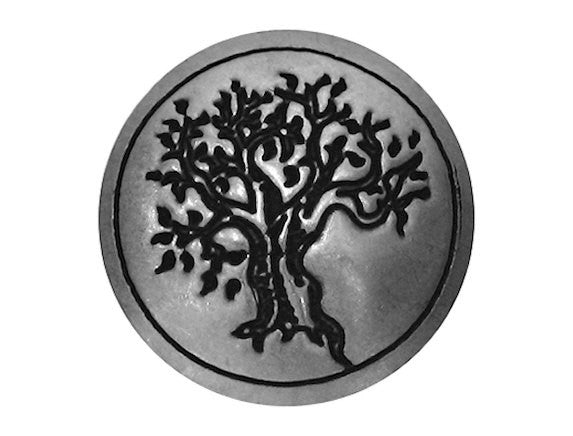 Blackhawk Tree 1 inch Concho Button Silver Color Color