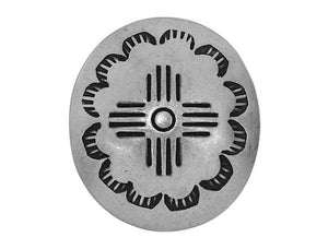 Blackhawk Oval Zia 1 inch Concho Button Silver Color