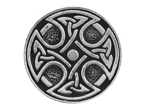 TreasureCast Round Celtic Cross 15/16 inch Pewter Button Antique Silver Color
