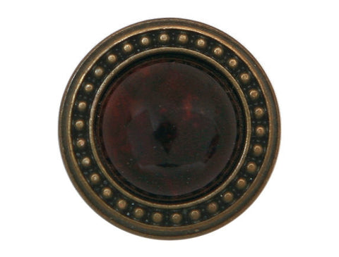 Ravenna Dome 7/8 inch Metal Button Burgundy Color