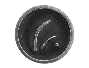 Danforth Create 13/16 inch Pewter Button Silver / Black Color