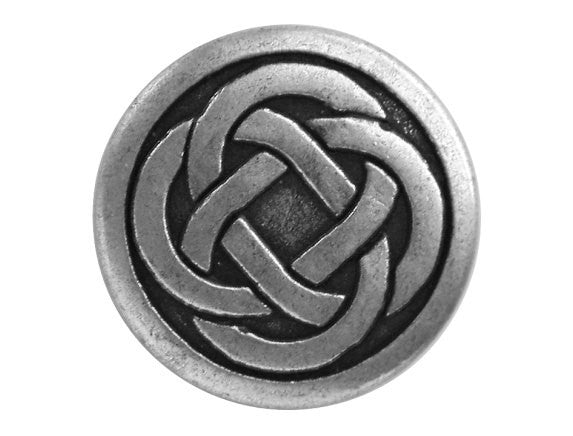 Celtic Knot 7/8 inch Metal Button Antique Silver Color