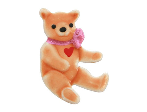 Susan Clarke Teddy Bear Love 13/16 inch Metal Button Light Brown Color