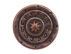 Dill Gladiator 5/8 inch Dill Metal Button Antique Copper Color