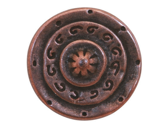 Dill Gladiator 1 inch Metal Button Antique Copper Color