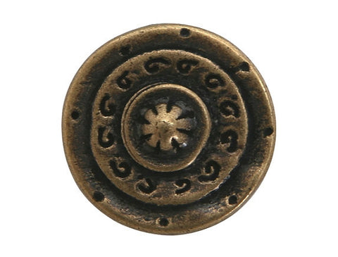 Dill Gladiator 5/8 inch Dill Metal Button Antique Brass Color