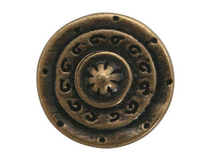 Dill Gladiator 3/4 inch Metal Button Antique Brass Color