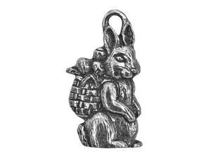 Danforth Easter Bunny 1 inch Pewter Pendant