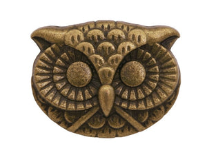 Owl 15/16 inch Trends Metal Button Antique Brass Color