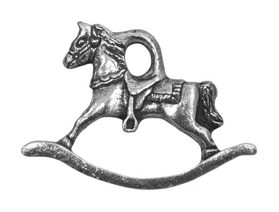 Danforth Rocking Horse 1 inch Pewter Charm