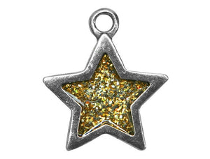 Danforth Gold Star 7/8 inch Pewter Pendant