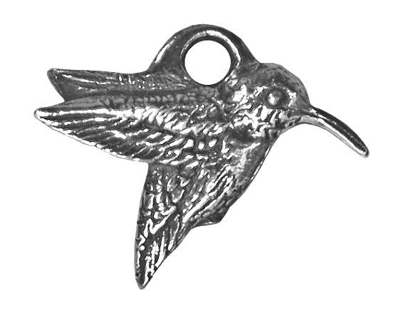 Danforth Hummingbird 5/8 inch Pewter Mini Charm