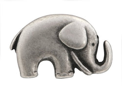 Jaybo Baby Elephant<br>  3/4 inch Metal Button<br>  Antique Silver Color