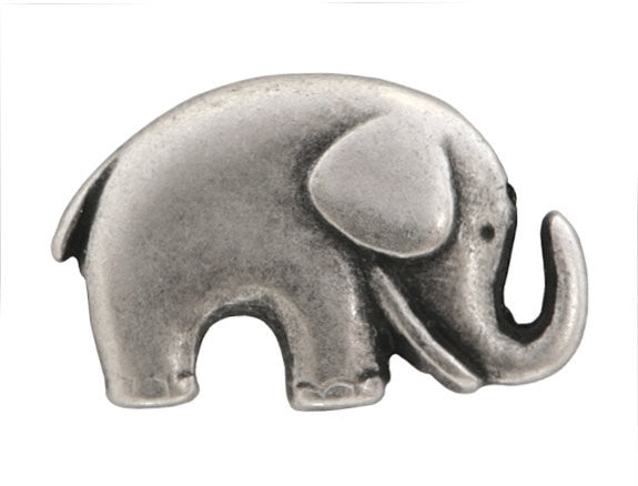 Jaybo Baby Elephant 3/4 inch Metal Button Antique Silver Color