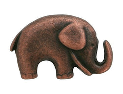 Jaybo Baby Elephant 3/4 inch Metal Button Antique Copper Color