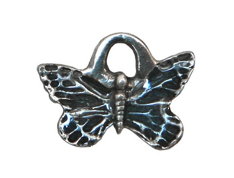 Danforth Blue Butterfly 1/2 inch Pewter Mini Charm