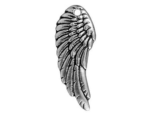 TierraCast Wing 1 inch Pewter Pendant Silver Plated