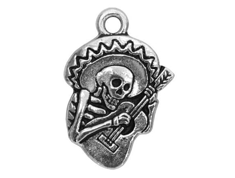 TierraCast Guitaro 15/16 inch Pewter Drop Silver Plated Charm