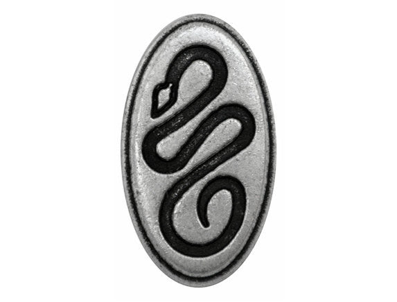 Sidewinder 1 inch Metal Button Antique Silver Color