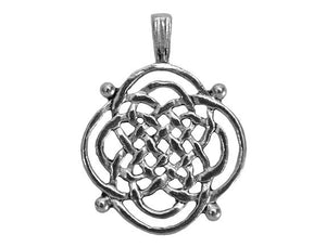 Celtic Weave Large Pewter Pendant Antique Silver Color